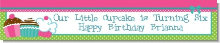 Cupcake Trio - Personalized Birthday Party Banners