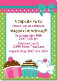 Cupcake Trio - Birthday Party Invitations