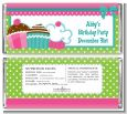 Cupcake Trio - Personalized Birthday Party Candy Bar Wrappers thumbnail