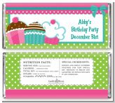 Cupcake Trio - Personalized Birthday Party Candy Bar Wrappers