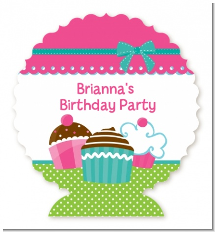Cupcake Trio - Personalized Birthday Party Centerpiece Stand