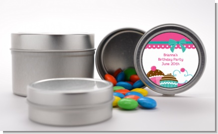 Cupcake Trio - Custom Birthday Party Favor Tins