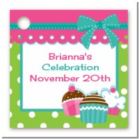 Cupcake Trio - Personalized Birthday Party Card Stock Favor Tags