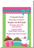 Cupcake Trio - Birthday Party Petite Invitations