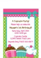 Cupcake Trio - Birthday Party Petite Invitations thumbnail