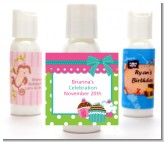 Cupcake Trio - Personalized Birthday Party Lotion Favors