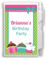 Cupcake Trio - Birthday Party Personalized Notebook Favor thumbnail