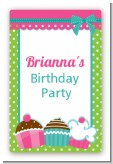Cupcake Trio - Custom Large Rectangle Birthday Party Sticker/Labels