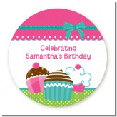 Cupcake Trio - Personalized Birthday Party Table Confetti