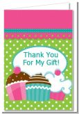 Cupcake Trio - Birthday Party Thank You Cards