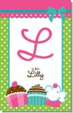 Cupcake Trio - Personalized Birthday Party Wall Art