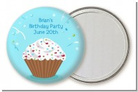 Cupcake Boy - Personalized Birthday Party Pocket Mirror Favors