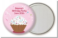 Cupcake Girl - Personalized Birthday Party Pocket Mirror Favors