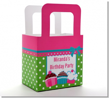 Cupcake Trio - Personalized Birthday Party Favor Boxes