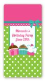 Cupcake Trio - Custom Rectangle Birthday Party Sticker/Labels