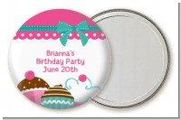 Cupcake Trio - Personalized Birthday Party Pocket Mirror Favors