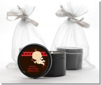 Cupid Baby Valentine's Day - Baby Shower Black Candle Tin Favors