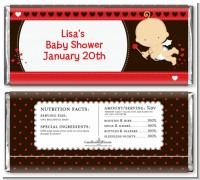 Cupid Baby Valentine's Day - Personalized Baby Shower Candy Bar Wrappers