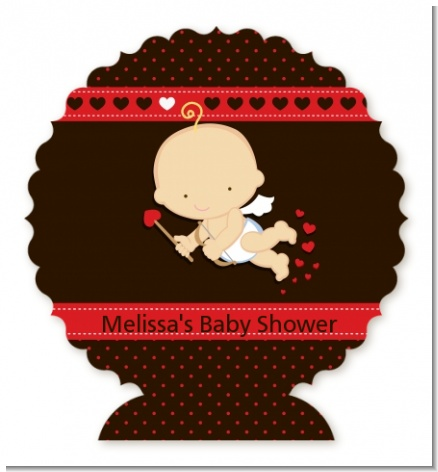 Cupid Baby Valentine's Day - Personalized Baby Shower Centerpiece Stand