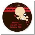 Cupid Baby Valentine's Day - Round Personalized Baby Shower Sticker Labels thumbnail