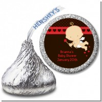 Cupid Baby Valentine's Day - Hershey Kiss Baby Shower Sticker Labels