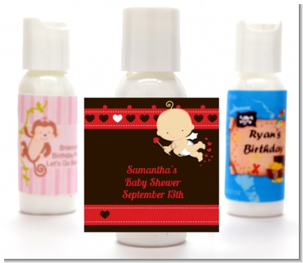 Cupid Baby Valentine's Day - Personalized Baby Shower Lotion Favors
