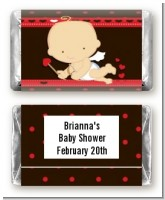 Cupid Baby Valentine's Day - Personalized Baby Shower Mini Candy Bar Wrappers