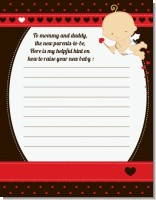 Cupid Baby Valentine's Day - Baby Shower Notes of Advice