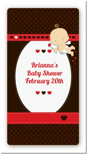 Cupid Baby Valentine's Day - Custom Rectangle Baby Shower Sticker/Labels
