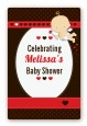 Cupid Baby Valentine's Day - Custom Large Rectangle Baby Shower Sticker/Labels thumbnail