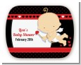 Cupid Baby Valentine's Day - Personalized Baby Shower Rounded Corner Stickers thumbnail
