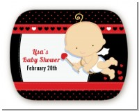 Cupid Baby Valentine's Day - Personalized Baby Shower Rounded Corner Stickers