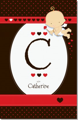 Cupid Baby Valentine's Day - Personalized Baby Shower Nursery Wall Art