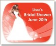 Custom Bride - Personalized Bridal Shower Rounded Corner Stickers thumbnail