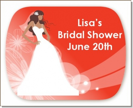 Custom Bride - Personalized Bridal Shower Rounded Corner Stickers