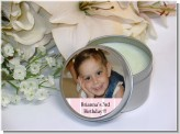 Custom Photo Soy Candle Tins Travel Size - Bridal Shower Candle Favors