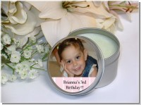 Custom Photo Soy Candle Tins Travel Size - Bridal | Wedding Candle Favors