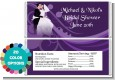 Custom Wedding Couple - Personalized Bridal Shower Candy Bar Wrappers thumbnail