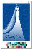Custom Wedding Dress - Bridal Shower Thank You Cards