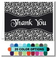 Custom Zebra - Bridal Shower Thank You Cards thumbnail