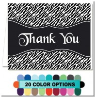 Custom Zebra - Bridal | Wedding Thank You Cards