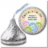 Cute As a Button - Hershey Kiss Baby Shower Sticker Labels