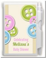 Cute As a Button - Baby Shower Personalized Notebook Favor