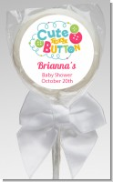 Cute As Buttons - Personalized Baby Shower Lollipop Favors
