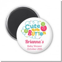Cute As Buttons - Personalized Baby Shower Magnet Favors