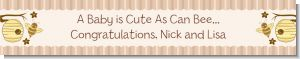 Cute As Can Bee - Personalized Baby Shower Banners