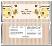 Cute As Can Bee - Personalized Baby Shower Candy Bar Wrappers