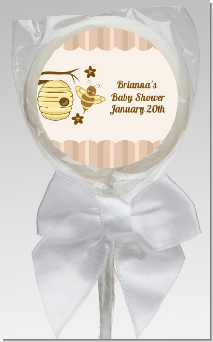 Cute As Can Bee - Personalized Baby Shower Lollipop Favors