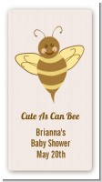 Cute As Can Bee - Custom Rectangle Baby Shower Sticker/Labels