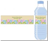 Cute As a Button - Personalized Baby Shower Water Bottle Labels